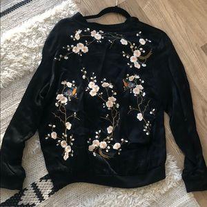 Zara Jackets & Coats - Zara Flora Bomber Jacket